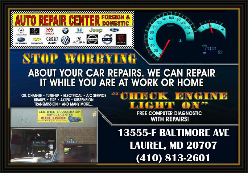 certified transmission service center complete auto repair shop  laurel md